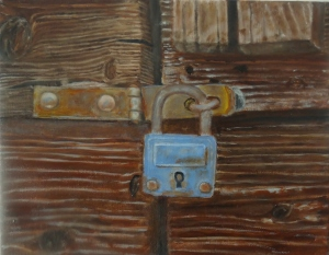 Candado oxidado