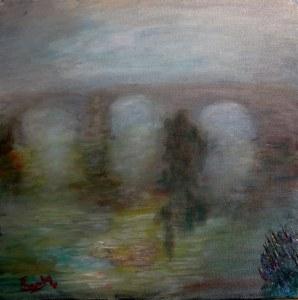 Oleo sobre lienzo de 40x40 cm