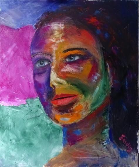 Oleo sobre lienzo de  56x68 cm. Pincel y espátula